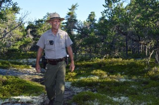 Ranger Bill Weidner at Schoodic Woods